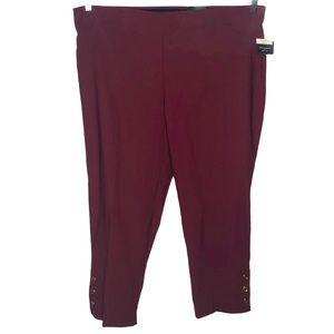 NEW!!!  Roz & Ali maroon ankle pants size 24W